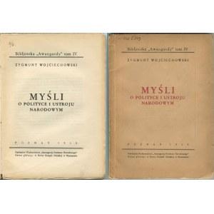 WOJCIECHOWSKI Zygmunt - Myśli o polityce i ustroju narodowym [1935]