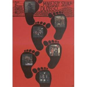 plakat BUTENKO Bohdan - Mniejszy szuka dużego [1975] [wersja I]
