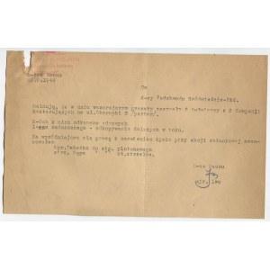[Powstanie warszawskie] Meldunek dowódcy Baonu Iwo [23.08.1944]