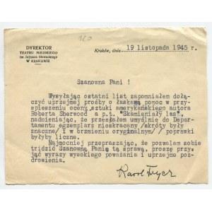 List Karola Frycza [Kraków 1945]
