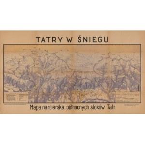 mapa KOROSADOWICZ Zbigniew - Tatry w śniegu. Mapa narciarska północnych stoków Tatr [1947]