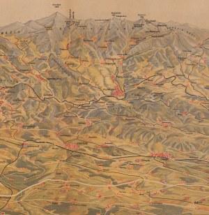 mapa KOROSADOWICZ Zbigniew - Panorama Sudetów od północy [1947]
