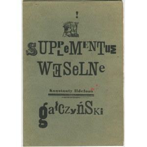 GAŁCZYŃSKI Ildefons Konstanty - Supplementum weselne