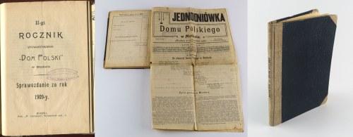 Roczniki Stowarzyszenia Dom Polski w Moskwie 1908-1913. Jednodniówka Domu Polskiego