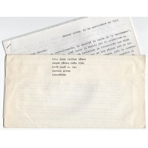 [korespondencja] GOMEZ Carlos Juan - 3 listy do Henryka Berezy