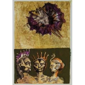 Jan Lebenstein, Trzy figury. Ilustracja poezji Eugenio Montale, 1972