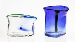 Para form szklanych – Wazonów – proj. Maria VELTUZEN-NAGRABECKA (ur. 1942)
