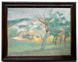 BIENIEK Ignacy (1925 Bystra - 1993 Wrocław) - Pejzaż.