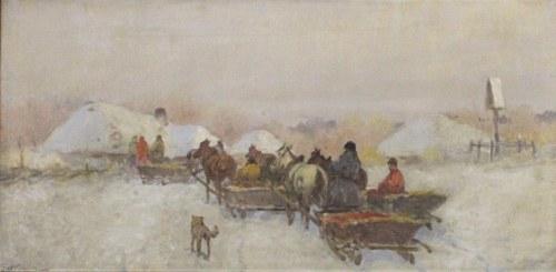 SETKOWICZ Adam (1876 Kraków - 1945 Kraków) - Zimowe zaprzęgi.