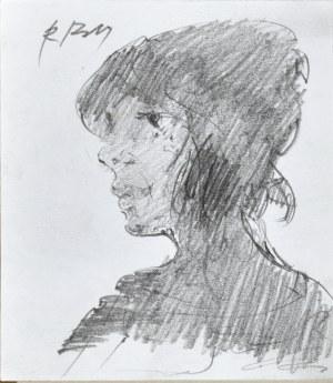Roman BANASZEWSKI (1932-2021), Popiersie kobiety z lewego profilu