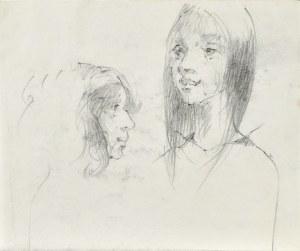 Roman BANASZEWSKI (1932-2021), Szkice twarzy młodej kobiety