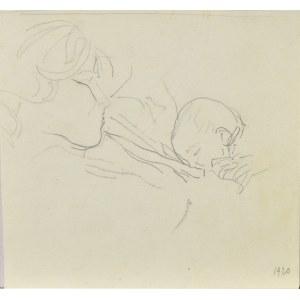 Leopold GOTTLIEB (1879-1934), Matka karmiąca dziecko, 1920