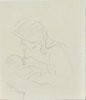 Leopold GOTTLIEB (1879-1934), Matka karmiąca dziecko