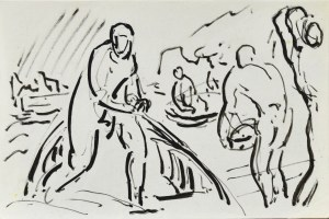 Leopold GOTTLIEB (1879-1934), Szkice mężczyzn