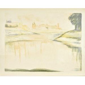 Jan HRYNKOWSKI (1891-1971), Panorama z widokiem Wawelu