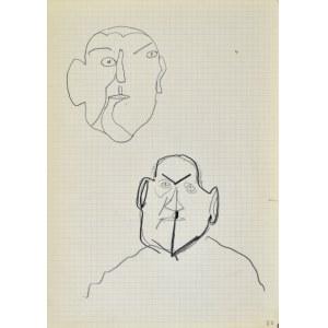 Jerzy PANEK (1918-2001), Szkic męskiej głowy, popiersie mężczyzny