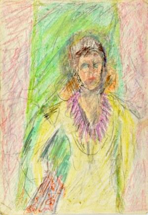 Krystyna PELLETIER (1914-2007), Postać kobieca – rysunek dwustronny