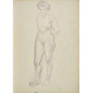 Kasper POCHWALSKI (1899-1971), Akt stojącej kobiety z rękami założonymi za plecami, 1953