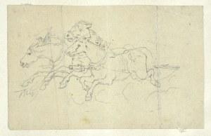 Tadeusz RYBKOWSKI (1848-1926), Pędzące konie