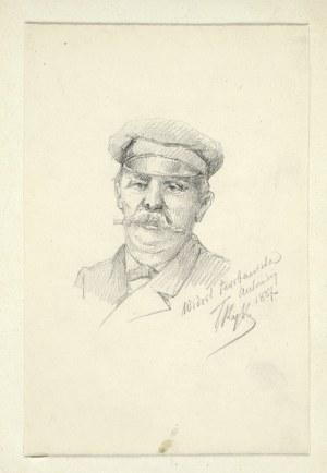 Tadeusz RYBKOWSKI (1848-1926), Portret mężczyzny z wąsami