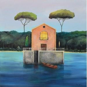 Luiza Los-Pławszewska (ur. 1963), W oazie ciszy II, z cyklu: My home is my castle, 2021