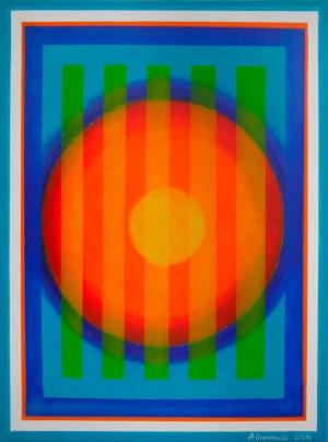 Andrzej Grabowski (ur. 1962), Orange in the ocean, 2021