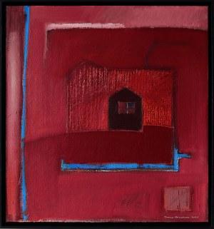 Iwona Stachura (ur. 1968), Recykling szkicu. Różowy 4, 2021