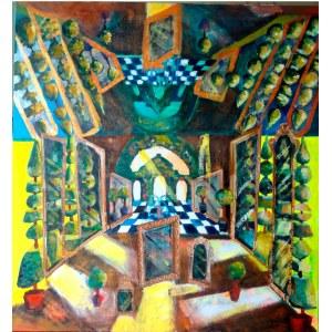 Magdalena Kurek (ur. 1979), Barokowy ogród - w teatralnym lustrze, 2021