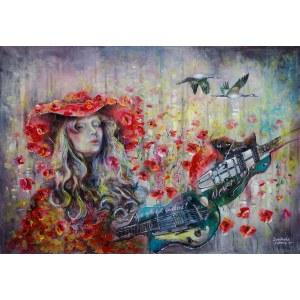 Anna Sandecka-Ląkocy (ur. 1970), Poppies whisper, z cyklu: Never ever..., 2021