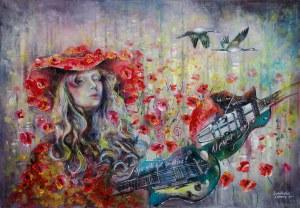 Anna Sandecka-Ląkocy (ur. 1970), Poppies whisper, z cyklu: