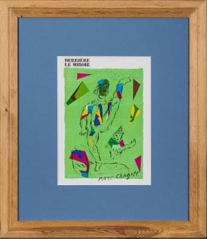 Marc Chagall, Zielony akrobata z albumu Derrière le Mirroir, 1979