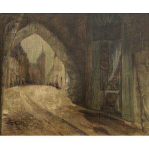 Jan RUBCZAK (1884 - 1934), Widok z Bramy Floriańskiej w Krakowie