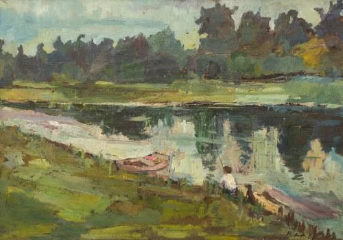 Roman ARTYMOWSKI (1919 - 1993), Pejzaż z rzeką, 1958