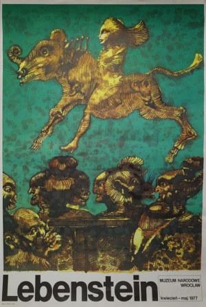 Plakat do wystawy Jana Lebensteina