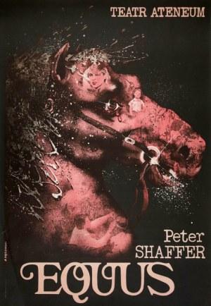 proj. Andrzej PĄGOWSKI (ur. 1953), Plakat dla teatru Ateneum do spektaklu Peter'a Shaffer'a