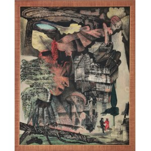 Danuta LESZCZYŃSKA-KLUZA (1926-2019), Brzoza na wulkanie, 1990