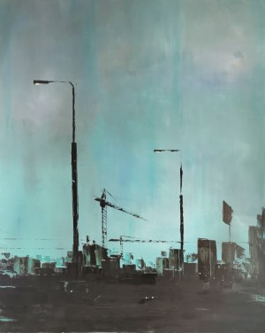 Yuliya STRATOVICH (ur. 1989), Turcoise evening (mint), 2020