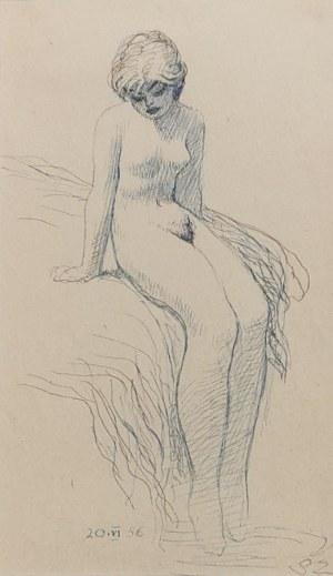 Stefan ŻECHOWSKI (1912-1984), Erotyk - akt, 1956