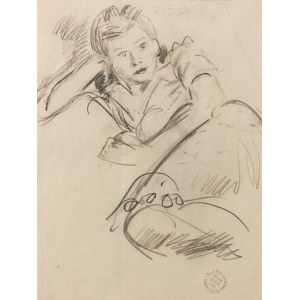 Ludwik KLIMEK (1912-1992), Kobieta na sofie, 1998