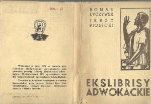 Łyczywek Roman Piosicki Jerzy EKSLIBRISY ADWOKACKIE