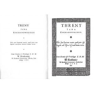 Kochanowski Jan TRENY