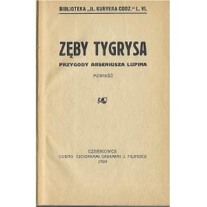 ZĘBY TYGRYSA PRZYGODY ARSENIUSZA LUPINA, wyd.1924