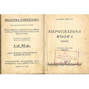 Bruun Laurids NIEPOCIESZONA WDOWA , wyd.1927