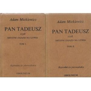 Mickiewicz Adam PAN TADEUSZ Reprodukcja pierwodruku