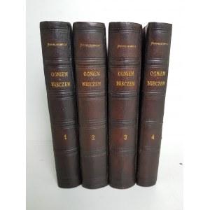 Sienkiewicz Henryk OGNIEM I MIECZEM Wydanie 1 Warszawa 1884 PÓŁSKÓREK Z EPOKI