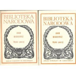 Mickiewicz Adam WYBÓR POEZYJ t.1-2, wyd.Ossolineum 1986