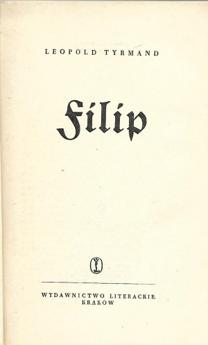 Tyrmand Leopold FILIP Wyd.1961