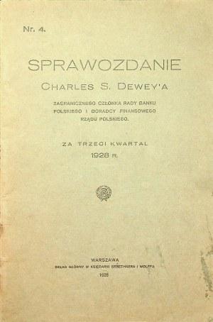 [BANK POLSKI] SPRAWOZDANIE Charles S. Dewey'a