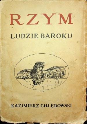 CHŁĘDOWSKI Rzym Ludzie Baroku Lwów 1931