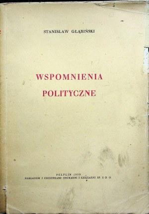 GŁĄBIŃSKI Stanisław Wspomnienia polityczne Pelplin 1939
